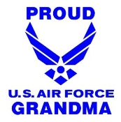 Proud Air Force Grandma Decal Sticker