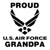 Proud Air Force Grandpa Decal Sticker