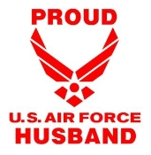 Proud Air Force Husband Decal Sticker