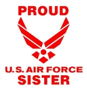 Proud Air Force Sister Decal Sticker