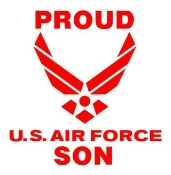 Proud Air Force Son Decal Sticker