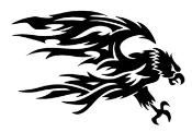 Tribal Eagle v1 Decal Sticker