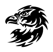 Tribal Eagle Head Decal Sticker