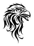 Tribal Eagle Head v2 Decal Sticker