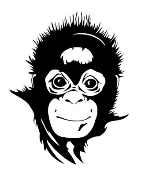 Baby Chimpanzee Head Decal Sticker