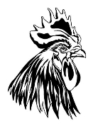 Rooster Head Decal Sticker
