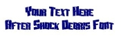 After Shock Debris Font Decal Sticker