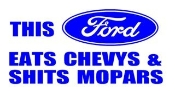 Ford Eats Chevys Decal Sticker