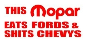 Mopar Eats Fords Decal Sticker