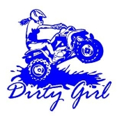 Dirty Girl ATV Decal Sticker