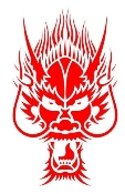Dragon Head v3 Decal Sticker