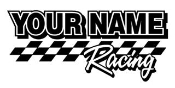 Personalized Racing 7 Decal Sticker