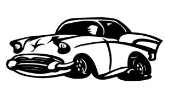 Hot Rod Cartoon v1 Decal Sticker