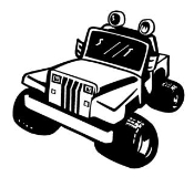 Jeep Cartoon Decal Sticker