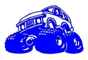 Monster Truck Cartoon Decal Sticker