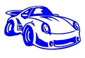 Porsche Cartoon Decal Sticker