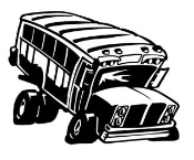 School Bus Cartoon Decal Sticker