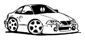 Street Racer Cartoon Decal Sticker