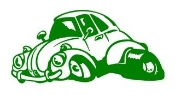 VW Bug Cartoon Decal Sticker