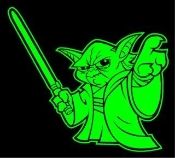 Yoda v2 Decal Sticker