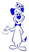 Huckleberry Hound Decal Sticker