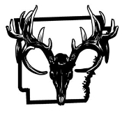Arkansas Deer Skull Decal Sticker