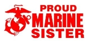 Marine Sister Decal Sticker