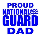 National Guard Dad Decal Sticker