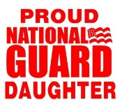 National Guard Daughter Decal Sticker