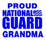 National Guard Grandma Decal Sticker
