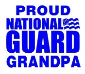 National Guard Grandpa Decal Sticker