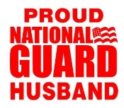 National Guard Husband Decal Sticker
