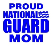 National Guard Mom Decal Sticker