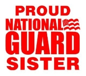 National Guard Sister Decal Sticker