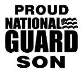 National Guard Son Decal Sticker