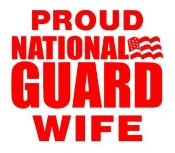 National Guard Wife Decal Sticker