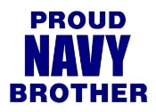 Navy Brother Decal Sticker