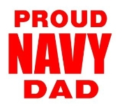 Navy Dad Decal Sticker