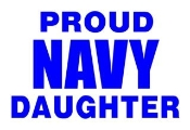 Navy Daughter Decal Sticker