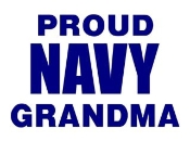 Navy Grandma Decal Sticker
