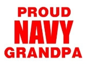Navy Grandpa Decal Sticker