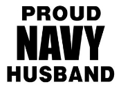 Navy Husband Decal Sticker