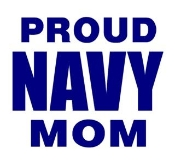 Navy Mom Decal Sticker