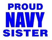 Navy Sister Decal Sticker