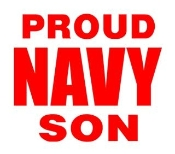 Navy Son Decal Sticker