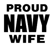 Navy Wife Decal Sticker