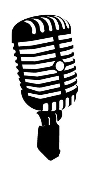 Old Style Microphone Decal Sticker