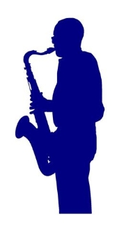 Saxophone Player v1 Decal Sticker