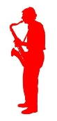 Saxophone Player v3 Decal Sticker