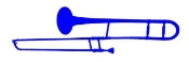 Trombone Decal Sticker